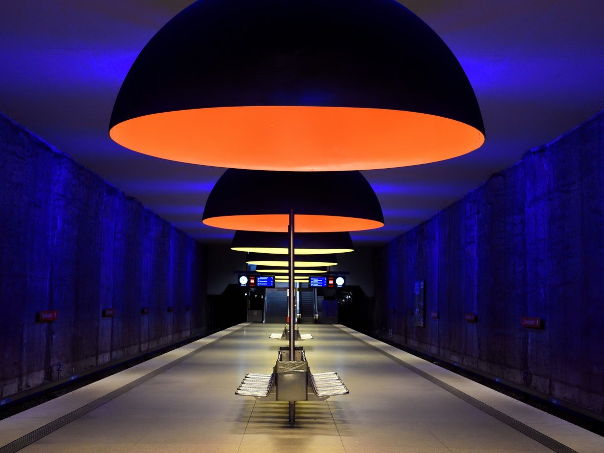 Stunning metro station in Munich