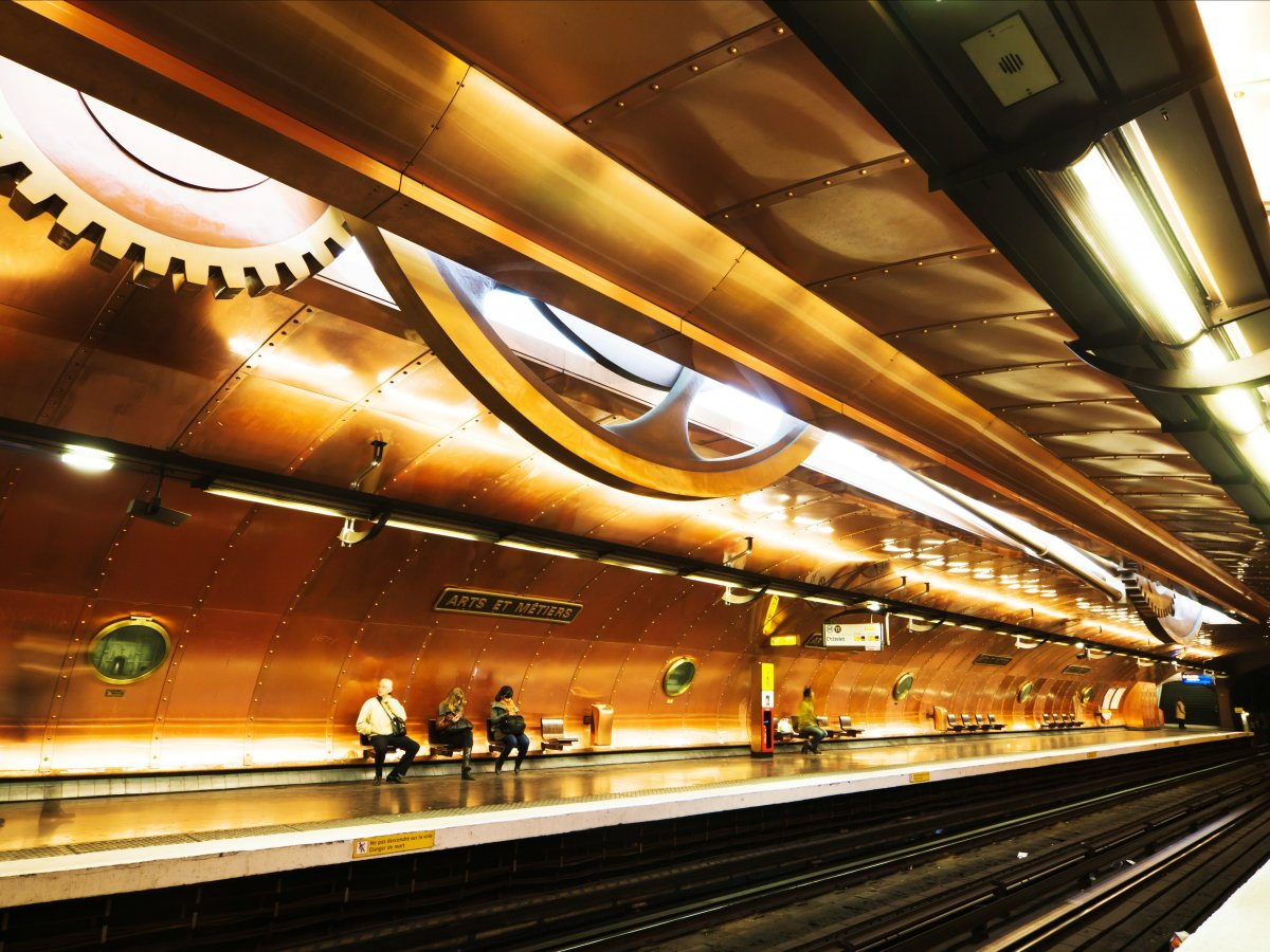 Beautiful metro stations Paris.