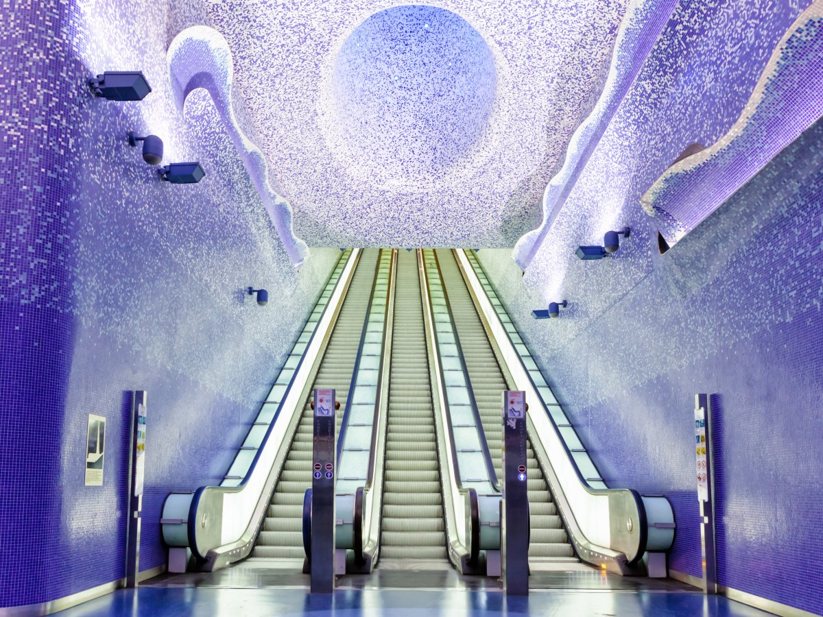 Beautiful metro stations Italy
