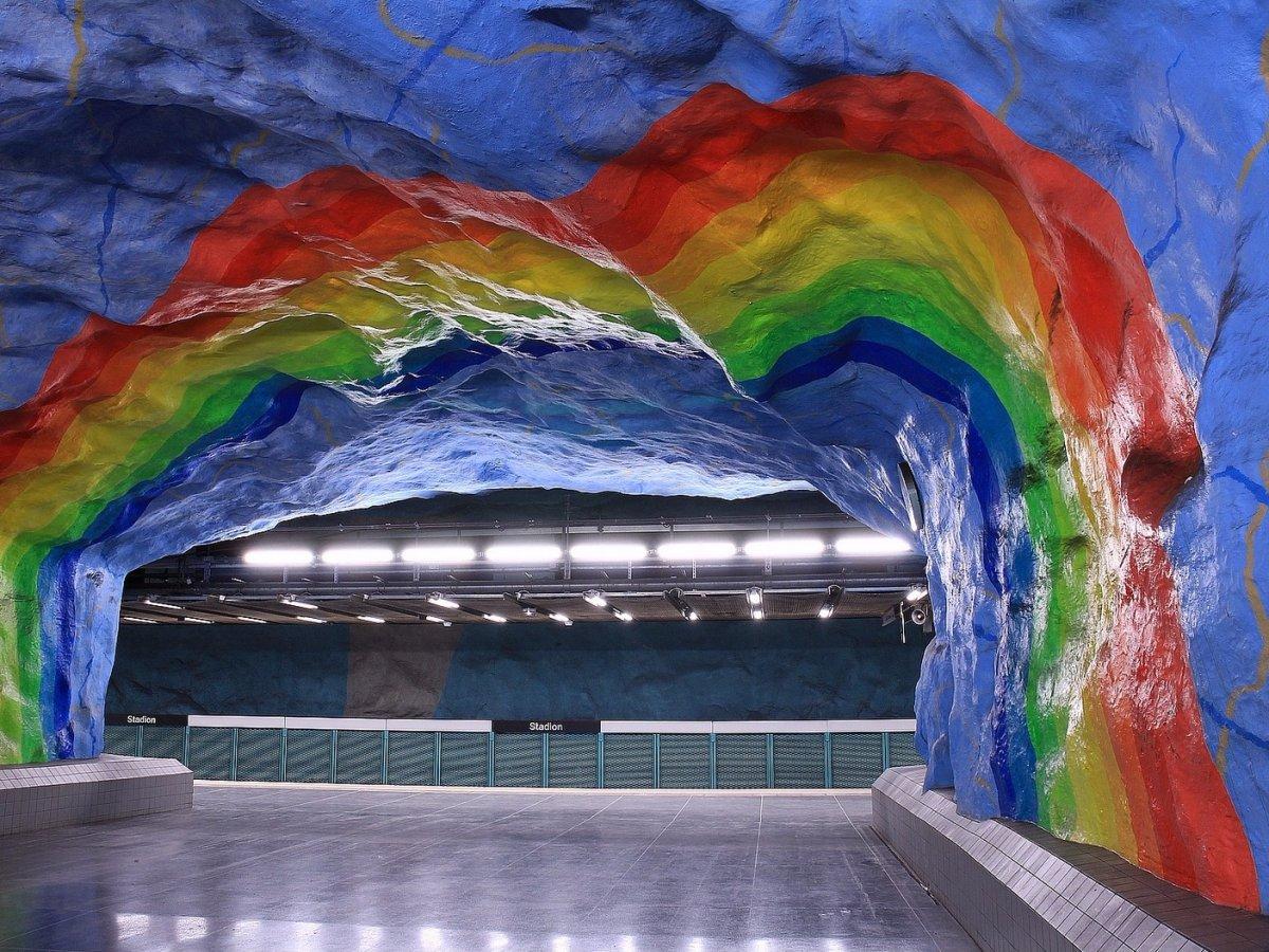 Metro station Stockholm, Sweden